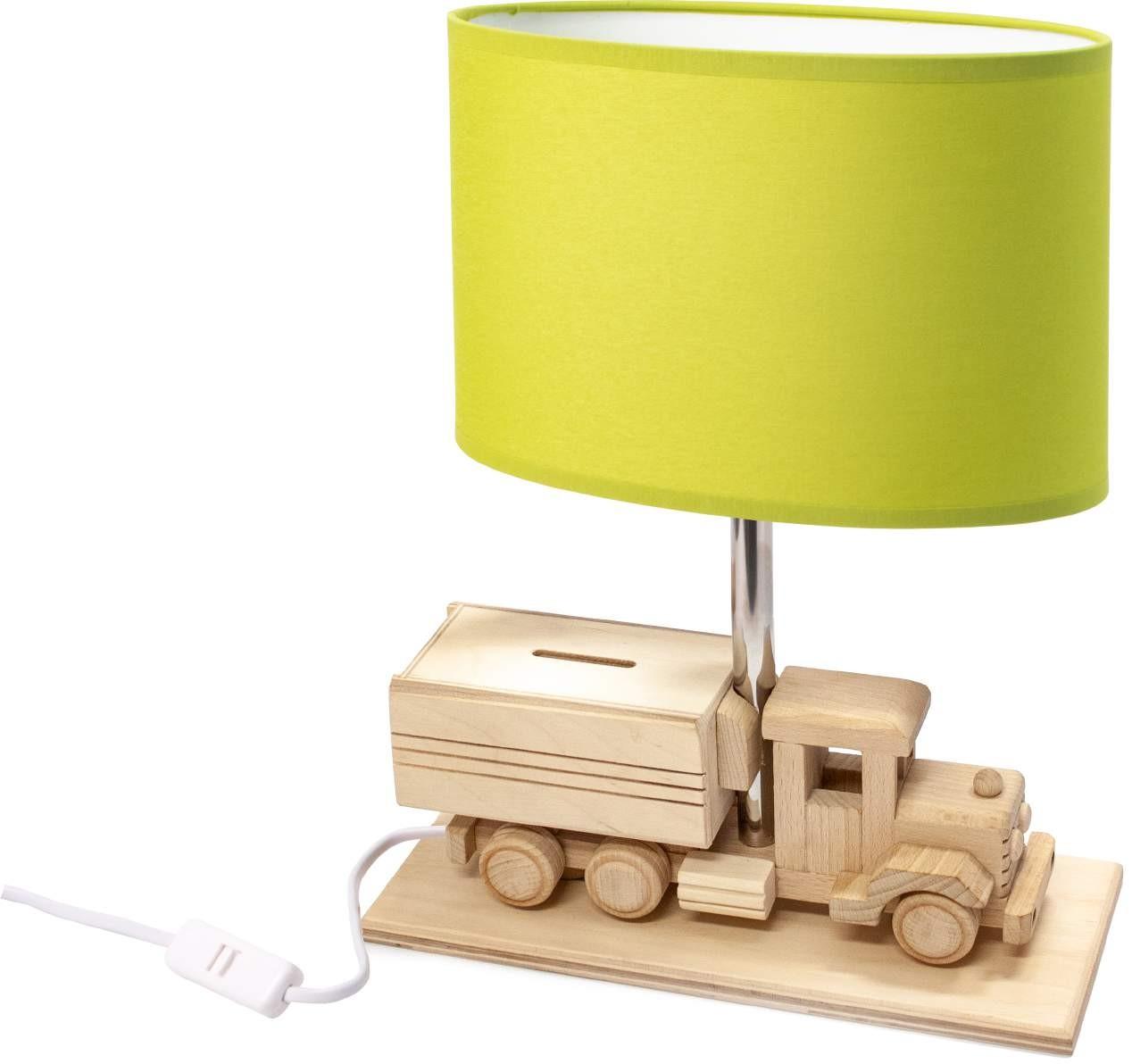 Tischlampe für Kinder  LKW-Sparschwein