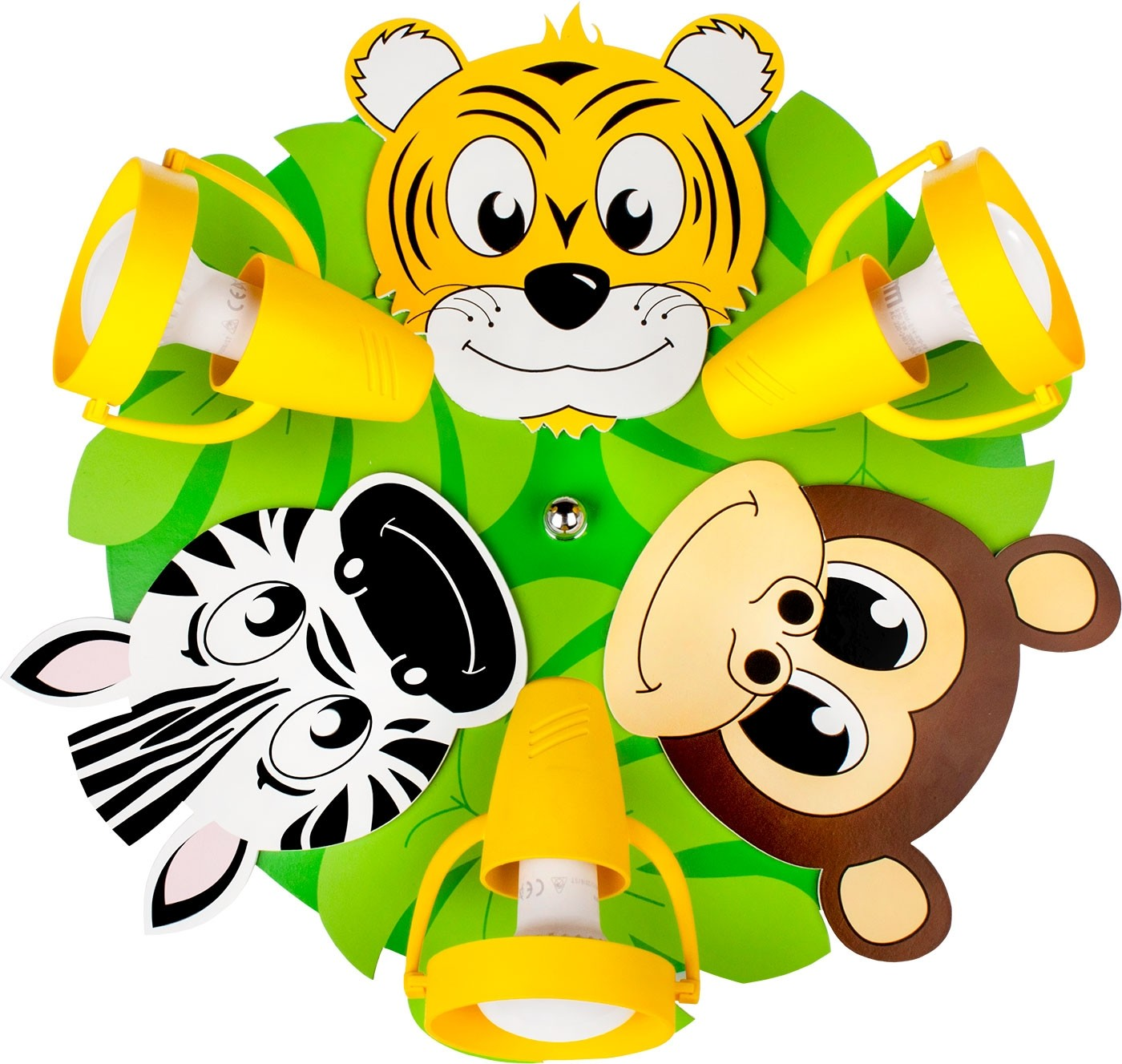 Lampa sufitowa,plafon,SAFARI,kolorowy,zebra,małpka,tygrys