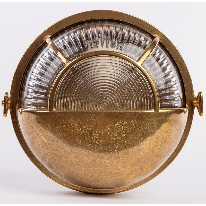 Wandleuchte KREIS 14S, aus Messing, 17.5 cm