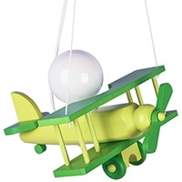 Kleine Pendelleuchte Flugzeug – grün
