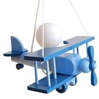 Kleine Pendelleuchte Flugzeug – blau