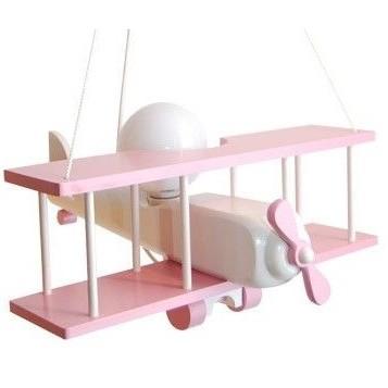 Hängeleuchte Flugzeug - groß, rosa