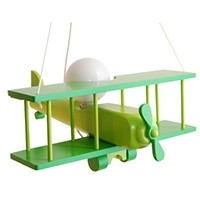 Hängeleuchte Flugzeug - groß, grün