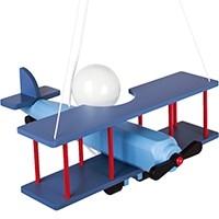 Hängeleuchte Flugzeug - groß, blau-schwarz/rot