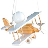 Kleine Pendelleuchte Flugzeug – weiß