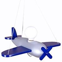 Pendelleuchte Flugzeug - silber/marineblau