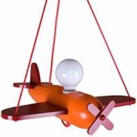 Pendelleuchte Flugzeug - orange/rot