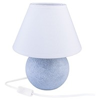 Tischlampe KUGEL - Marmor grau