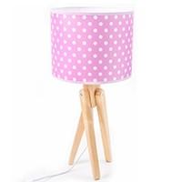Tischlampe für Kinder  -  TRIVET (natur/rosa)