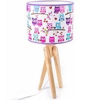 Tischlampe für Kinder  -  TRIVET (natur/Eulen)