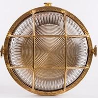 Wandleuchte KREIS A14, aus Messing, Durchmesser 17.5 cm