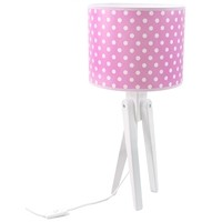 Tischlampe für Kinder  -  TRIVET (weiß/rosa)