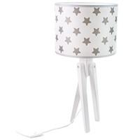 Tischlampe für Kinder  -  TRIVET (weiß/Sterne)