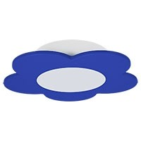 LED Deckenleuchte FIORE - blau