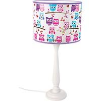 Tischlampe für Kinder  - BERTA (rosa Eulen)