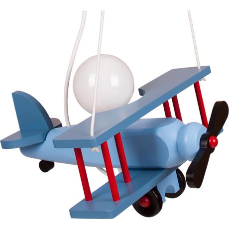 Kleine Pendelleuchte Flugzeug – blau/dunckelblau