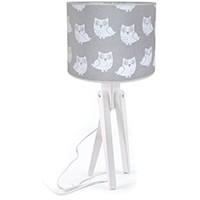 Tischlampe für Kinder  -  TRIVET (weiß/grau)
